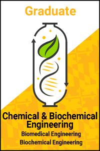 CBEE's logo, with text for Chemical & Biochemical Engineering Graduate Programs with Biomedical Engineering and Biochemical Engineering research focus.